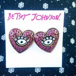 Betsey Johnson Evil Eye Earrings